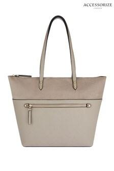 Accessorize Grey Molly Tote Bag