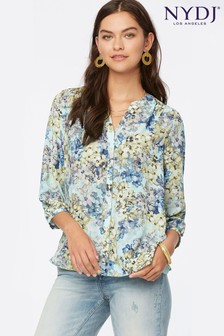 NYDJ Pintuck Blouse - Frazier Floral Print