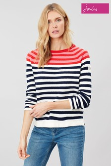 Joules Red Seaport Roll Neck Raglan Jumper