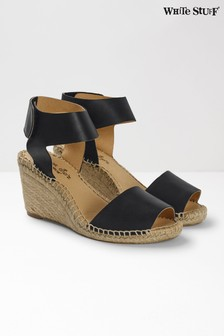 White Stuff Black Lou Lou Espadrille Wedges