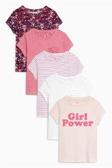 Набор из пяти футболок с коротким рукавом (3-16 лет)