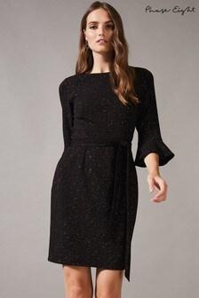 Phase Eight Black Varya Glitter Speck Tunic Dress