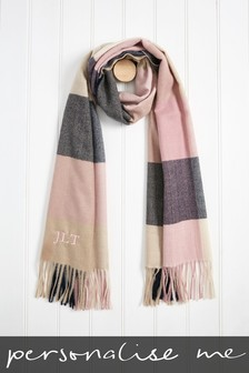 Personalised Check Scarf