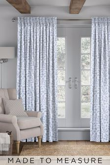 Lucerne Sky Blue Made To Measure Curtains