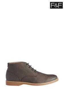 F&F Grey Nubuck Chukka Boots