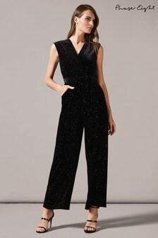 Phase Eight Black Starlight Multicolour Sparkle Jumpsuit