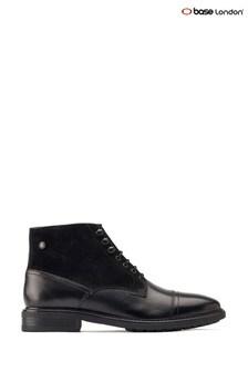 Base London® Black Conrad Brogue Boots