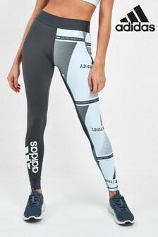 adidas Sky Blue Print Alpha Skin Leggings
