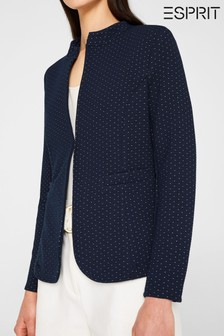 Esprit Indoor Knitted Blazer With Dots