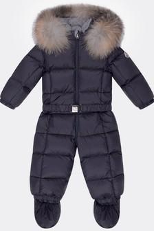 Baby Navy Down Padded Snowsuit