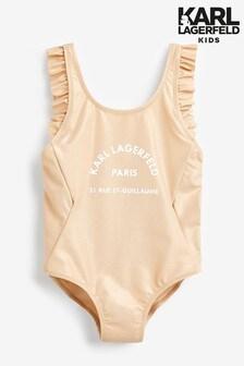 Karl Lagerfeld Kids Gold Swimsuit