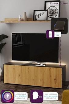 Frank Olsen Smart LED Black and Oak Large TV Unit