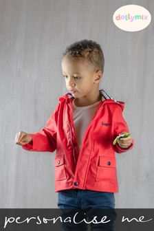 Personalised Red Raincoat by Dollymix