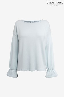 Great Plains Blue Kitten Soft Boat Neck Top