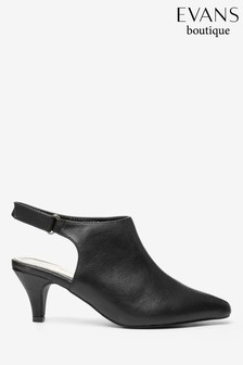 Evans Black Extra Wide Fit High Front Point Shoes