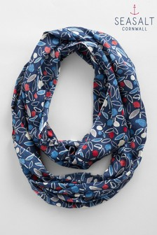 Seasalt Blue Ballard Point Circle Scarf