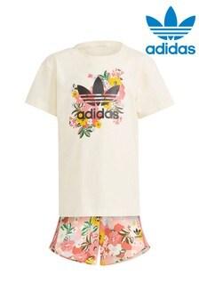 adidas Originals Little Kids Floral T-Shirt And Shorts Set