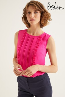 Boden Pink Penny Top