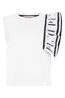 Emilio Pucci Girls White Cotton T-Shirt