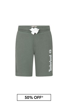 Timberland Green Cotton Shorts