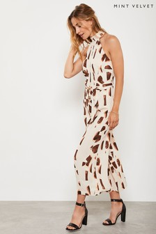 Mint Velvet Animal Millie Giraffe Halter Jumpsuit