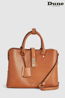 Dune Tan Diella Lock Compartment Tote