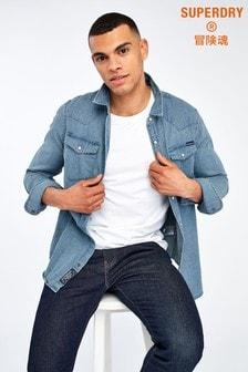 Superdry Blue Wash Long Sleeve Shirt