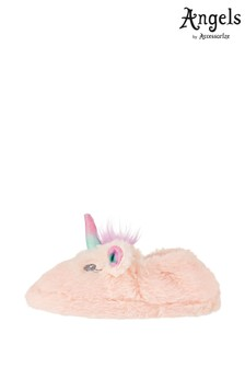 Angels By Accessorize Pink Glitter Unicorn Slippers