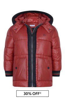 Boys Red Padded Coat