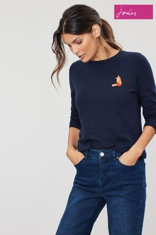 Joules Blue Asha Crew Neck Jumper