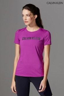 Calvin Klein Performance Purple Logo T-Shirt