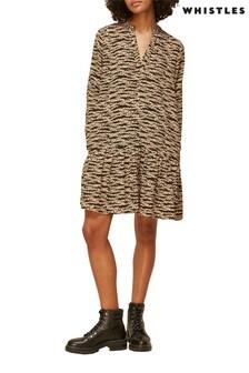 Whistles Tiger Print Dress