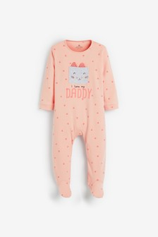 I Love My Daddy Cat Sleepsuit (0mths-2yrs)