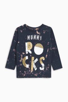 Mummy Rocks Long Sleeve T-Shirt (3mths-6yrs)
