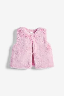 Faux Fur Gilet (3mths-7yrs)