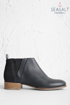 Seasalt Black Shoreline Boots