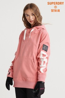 Superdry Pink Snow Tech Hoody