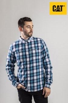 CAT® Lifestyle Blue Delavan Long Sleeve Shirt