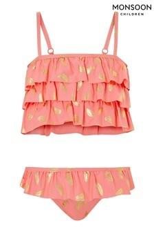 Monsoon Watermelon Foil Frill Bikini Set