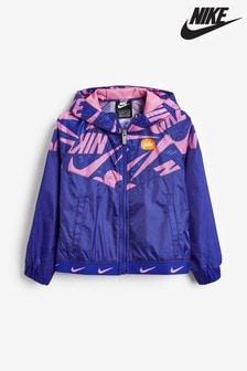 Nike Little Kids Blue Marker Mash Jacket