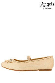 Angels by Accessorize Gold Star Charm Ballerinas