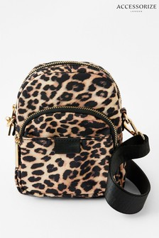 Accessorize Leopard Print Cross Body Bag