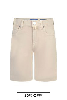 Jacob Cohen Boys Beige Cotton Shorts