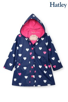 Hatley Blue Striped Hearts Colour Changing Splash Jacket