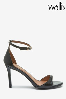 Wallis Black Perfect Black Barely There Two Part Sandals