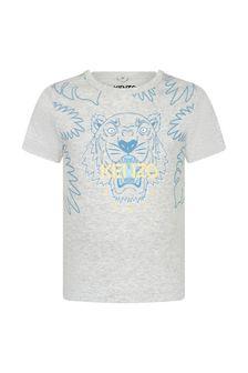 Kenzo Kids Baby Boys Grey Cotton T-Shirt