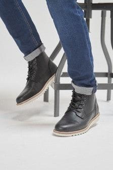 EVA Sole Lace-Up Boots