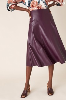 Monsoon Purple Midi Skirt