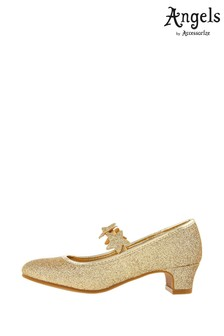 Angels by Accessorize Gold Glitter Star Flamenco Shoes