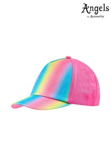 Angels by Accessorize Pink Rainbow Glitter Baseball Cap